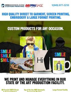 High Quality DTG, Screen Printing, Embroidery & Large Format Printing