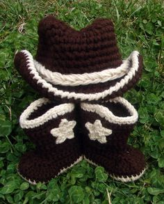 Cowboy Hat and Boots  for Baby and Toddler by MyThreadsOfWhimsy, $45.00