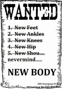 I want a new body!