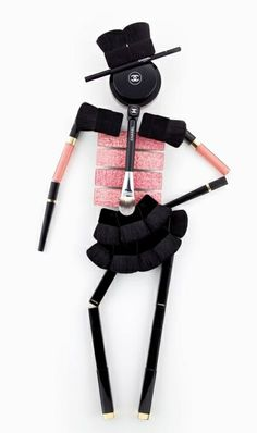 funny Chanel make-up 'doll' LOL @}-,-;--