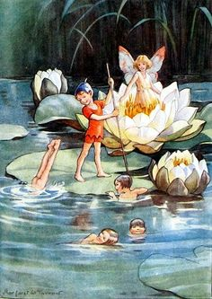March House Books Blog: Joan in Flowerland by Margaret W. Tarrant- Water Lillies