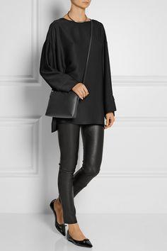The Row Leather shoulder bag NET-A-PORTER.COM