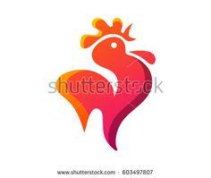 Chicken Rooster Restaurant Location Pointer Logo Coffee Logo, Illustration Art, Logo Design, Symbols, Chicken, Animals, Logo, Roosters, Restaurant