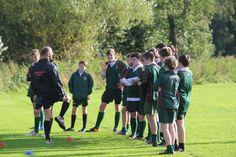 Enjoying rugby tactics!