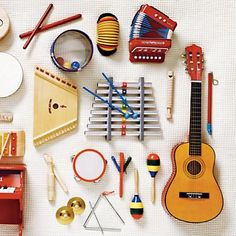 Kids' Musical Instruments. Hopefully they get Dustin's talent and can play anything we put in front of them!