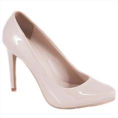 Pantofi nude cu toc 51598N - Reducere 60% - Zibra Pumps, Heels, Nude, Fashion, Heel, Moda, Fashion Styles, Pumps Heels, Pump Shoes