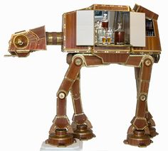 The Emperor's Cabinet, A Large Wooden 'Star Wars' AT-AT Wet Bar