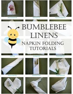 If you ever wondered how your favorite fancy restaurant (or cruise ship) folds their napkins, here's how you do it! Impress your next dinner party guests with a fun napkin design! How to Fold Dinner Napkins - Napkin Folding Guide via Bumblebee Linens