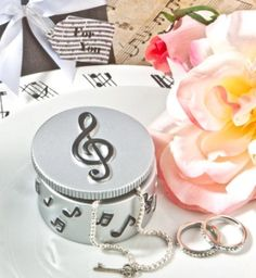 Adorable Musical Note Trinket Box ~  This Adorable Musical Note Trinket Box makes a perfect gift favor for a music themed event, sweet sixteen celebration or birthday party.