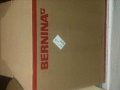 My Bernina 350 before I opened Regina.  Even the box is beautiful on my new sewing machine.
