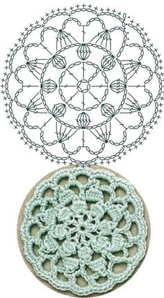 No 33 chrysanthemum medallion lace crochet motifs 국화꽃 모티브도안 Mandala Au Crochet, Crochet Motifs, Crochet Diagram, Crochet Chart, Crochet Squares, Crochet Doilies, Crochet Flowers, Point Granny Au Crochet, Crochet Thread Patterns