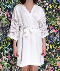 Guarda questo articolo nel mio negozio Etsy https://www.etsy.com/it/listing/489193135/vestaglia-kimono-sposamanica-in-pizzo