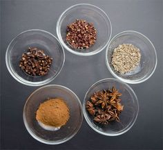 raw ingredients for five spice powder