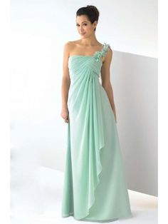 dbd133c3ae Chic Sheath Column Floor-length One Shoulder Chiffon Long Dress - Bridesmaid  Dresses