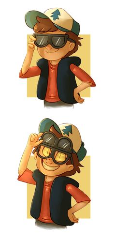 Guess who by Finchwing.deviantart.com on @deviantART>>>It was funny but then it got sad... as if Dipper had lost for good... T__T