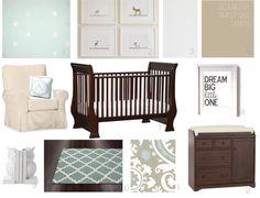 calm and beautiful nursery design