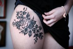 Leg flowers.