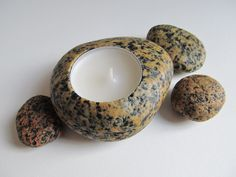 granite tealight holder