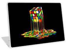 Rainbow Abstraction melted rubiks cube Laptop Skins #laptop #skin #case #Painting #Popart #Abstract #Vintage #Rubic #Rubix #Cube #Fullcolor #Rainbow #Retro #Classic #Toys #Bazinga #Sheldoncooper #BigBangTheory #Games #RubiksCube