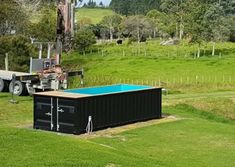 Container pool range and pricing - Container Pools NZ Pool Cover Roller, Shipping Container Swimming Pool, Pool Prices, Hardwood Decking, Pool Decks, Modern Houses, Pool Designs, Exterior Paint, Homestead