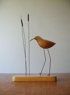 Mid Century Modern Shore Bird Sculpture. $62.00, via Etsy.