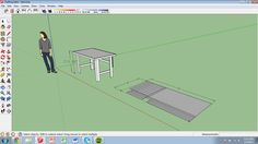 Pre-construction rendering of material needed to assemble a drafting table