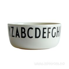 Design letters melamin skål