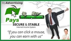 MyAdvertisingPays Every 20 minutes you will get an update on payouts and earn 10x daily visit a website money. No easier way to earn money Without having someone to advertise, No MLM! Daily payout!  http://5k2u.com/33097