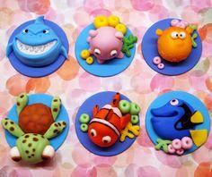 Pastillaje fondant buscando a Nemo por SweetCreationByCarey en Etsy