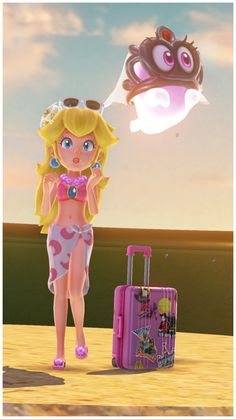 VGBites — Peach & Mario's Vacation: Seaside Kingdom Wait…. Super Mario Bros, Super Mario Peach, Super Princess Peach, Peach Mario, Princess Daisy, Super Mario World, Super Mario Brothers, Mario Kart Costumes, Nintendo Princess
