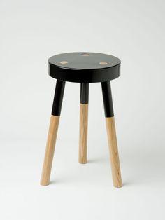 Black 'Y' stool by Tim Webber - Douglas + Bec
