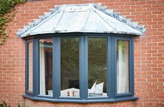 Add space & light to your home with our Bay Windows. Check out our full range of bay windows, get a free quote today! Grey Windows, Upvc Windows, Curb Appeal Uk, Bay Window Exterior, 1930s House Interior, Window Glazing, Window Frames, Next At Home, House Front