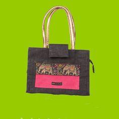 Natural and environment friendly jute based ladies hand bag