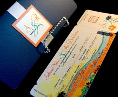 Airline Ticket Invitations - Boarding Pass New Wave