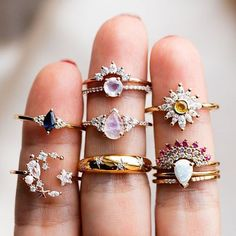 Rings - A whole lot of beauty resting on this hand 🙌🏼✨✨✨ Shop all our favs now at LocalEclectic - Cute Jewelry, Jewelry Box, Jewelry Accessories, Fashion Accessories, Fashion Jewelry, Unique Jewelry, Jewlery, Gold Jewelry, Dainty Jewelry