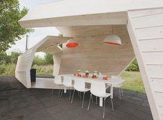 Futurystyczna designerska altana ogrodowa