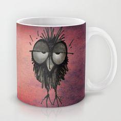 Sleepy Owl Mug by Paul Stickland for StrangeStore - $15.00 #strangestore #mugs #coffee