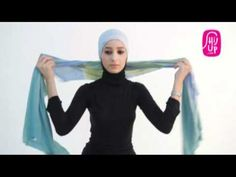 Hijab Tutorial Style 9 by HijUp.com Turban Tutorial, Hijab Tutorial, Scarf Hairstyles, Girl Hairstyles, Hijab Fashion, Diy Fashion, Scarf Styles, Hijab Styles, Turban Hijab