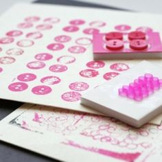 Use everyday household objects to create stamps for young children.