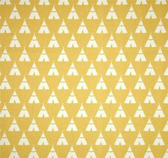 Southwest Golden Yellow Tee Pee Fabric by the Yard, Designer Cotton Home Decor Fabric, Drapery or Upholstery Fabric Cabin Southwest R178