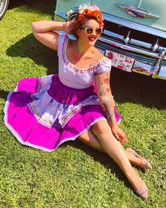 """Vintagestyle Seamstress on Instagram: """"💜✂️Vintage Style Patio set✂️💜 Redhead Esmeralda vibes! The perfect outfit to enjoy the sun and hot weather! •  I am so in love with my…"""" Vintage Style, Vintage Fashion, Enjoying The Sun, Dressmaking, Weather, Patio, Hot, Outfits, Instagram"""