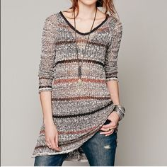 Free people beach sweater Super cute beach wear or not wear with jeans and boots very cute Free People Tops Sweatshirts & Hoodies