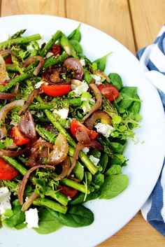 low carb raw | Low Carb, Raw & Healthy Food / asparagus and red onion cooked on the ...