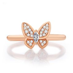 """ROSE GOLD BUTTERFLY DREAM RINGS #Glamulet jewelry,fits all brands bracelet. Wonderful gifts for family, lover, friends...Get 5% off on www.glamulet.com with coupon code """"PIN5"""""""