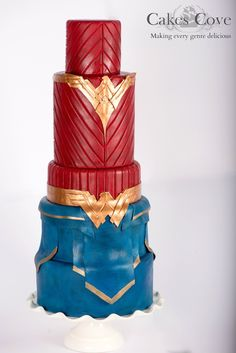 The very talented folks over at the Cakes Cove bakery have recently created this absolutely gorgeous Wonder Woman cake (for an unknown occasion) and made a companion chocolate shoe to go along with… Wonder Woman Wedding, Wonder Woman Cake, Wonder Woman Birthday, Wonder Woman Party, Pretty Cakes, Cute Cakes, Beautiful Cakes, Amazing Cakes, Birthday Bbq
