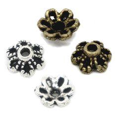 20 Perlenkappen 6,5x2,5mm silber bronze für 8-12mm Perlen Zierkappen | Perlenkappen | Bacabella.com | Perlen, Schmuck und Schmuckzubehör zum Schmuck selber machen | Schmuck basteln DIY DoItYourself | ganz individuell und einfach