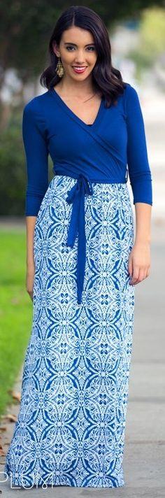 Printed Wrap Maxi Dress! 5 Colors! {Jane Deals}