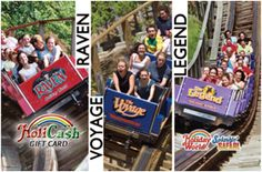 Roller Coaster HoliCash Gift Card; purchase online in increments of $25