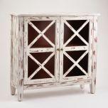 Distressed Ivory Wall Cabinet | Kirklands