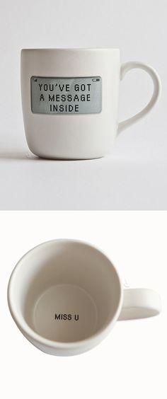 Secret message coffee mug